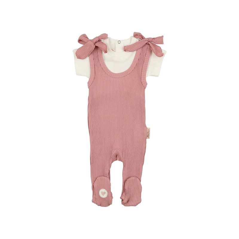 Rose Romper Chic Footie