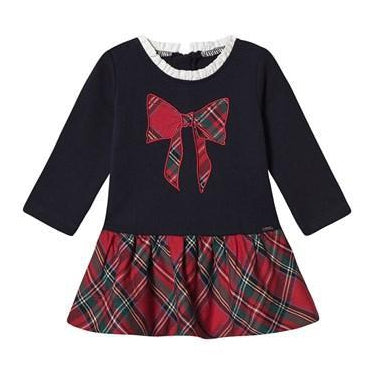 Tiny Tartan Bow Dress