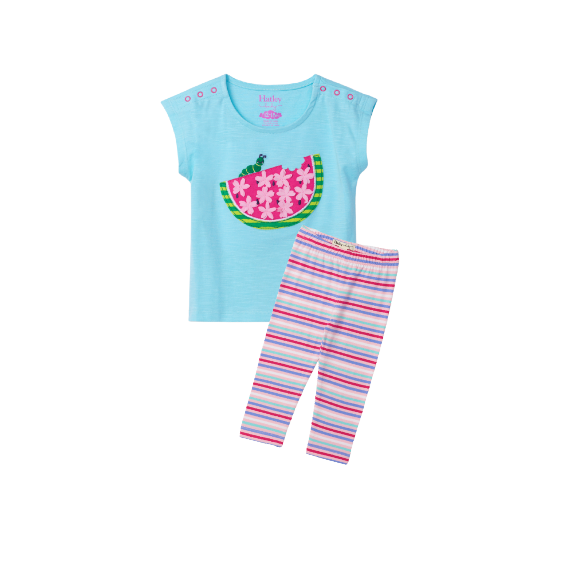 Watermelon Slice Baby Tee + Legging Set