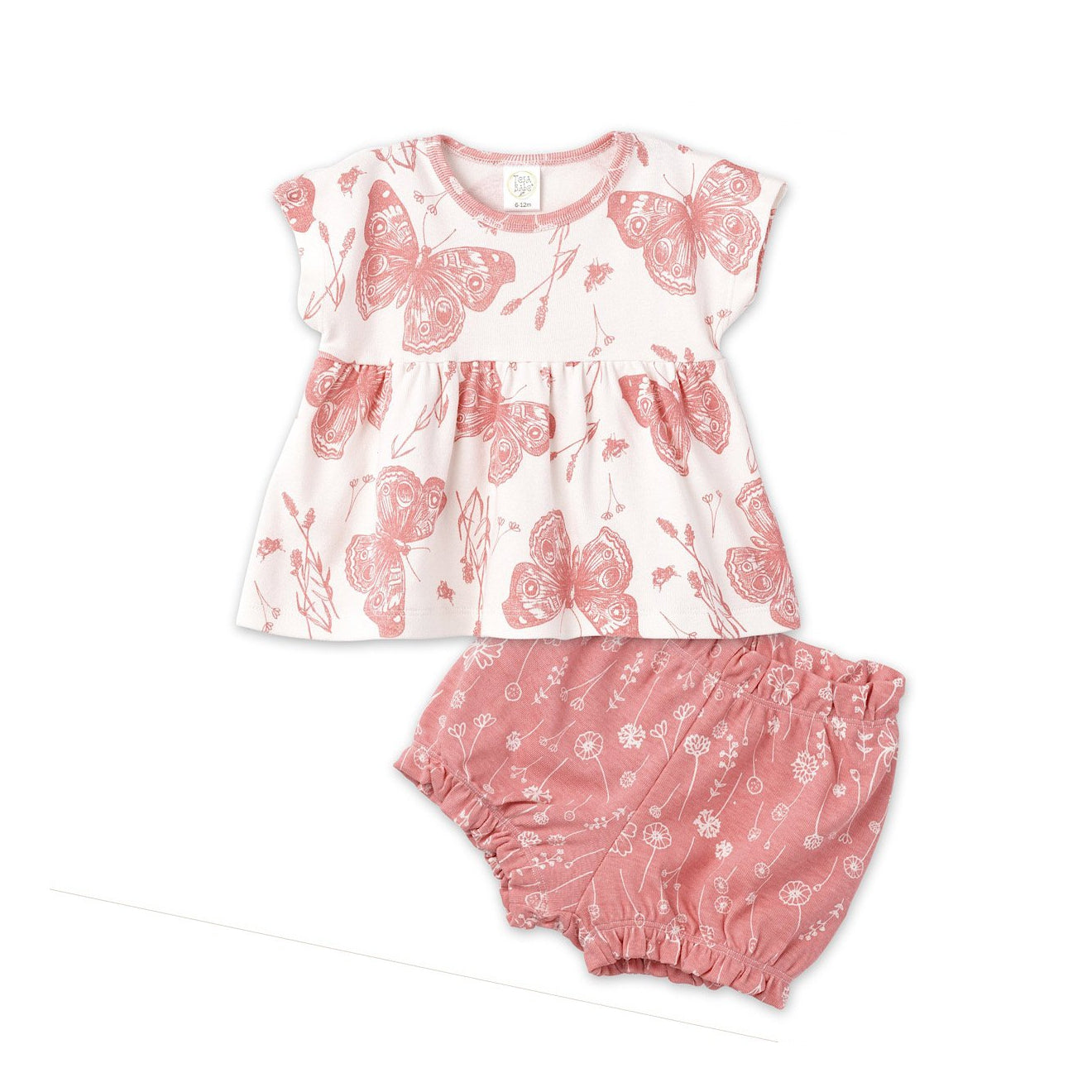 Coral Butterfly Bloomer Set