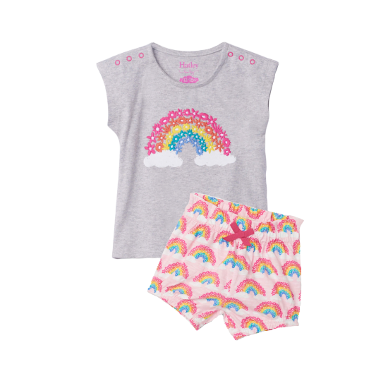 Magical Rainbow Baby Tee + Short Set