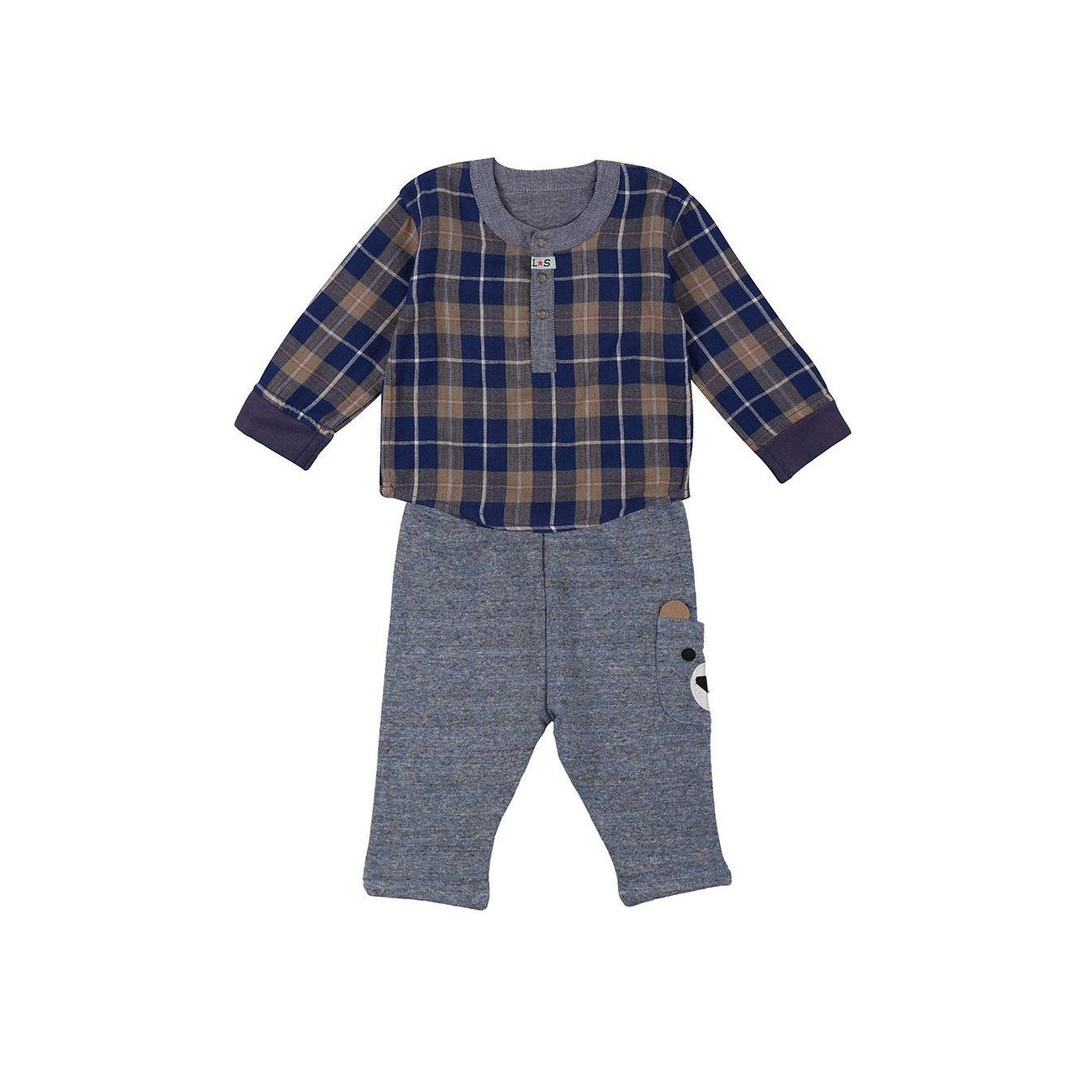Reversible Shirt With Bear Trouser Set
