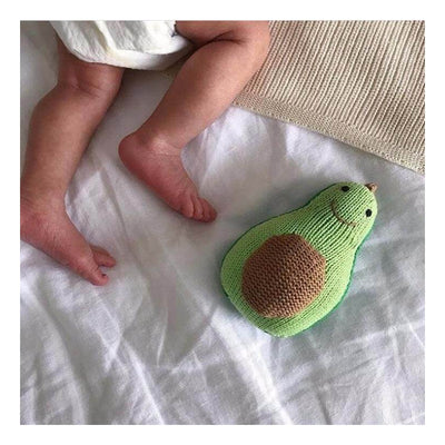 Avocado Knit Rattle