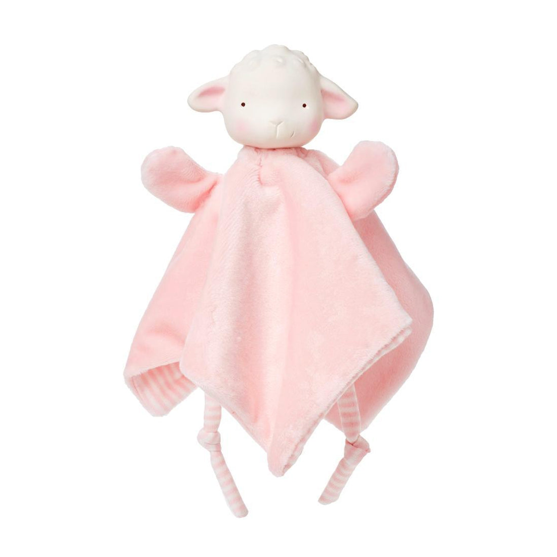 Bunnies by the Bay Baa-bs Lamb Pink Hanky Blanky Teether