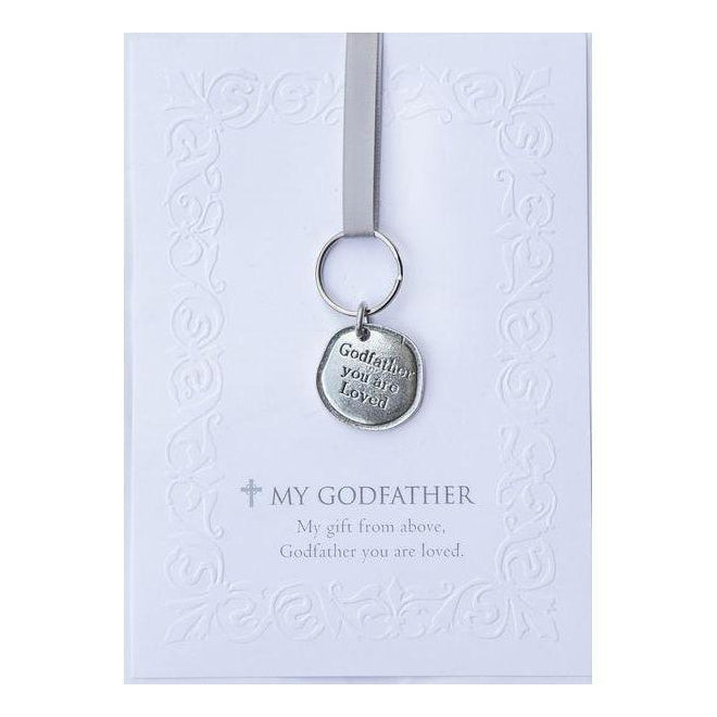 Godparent Pewter Keychain