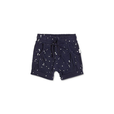Navy Splat Bubble Shorts