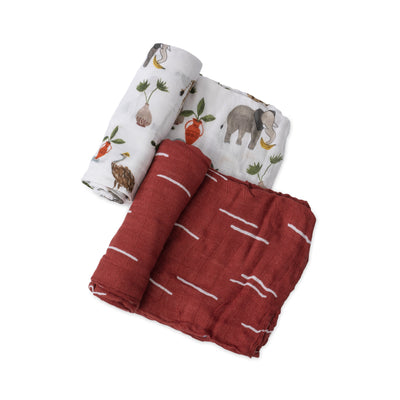 Safari Social Swaddle 2 Pack
