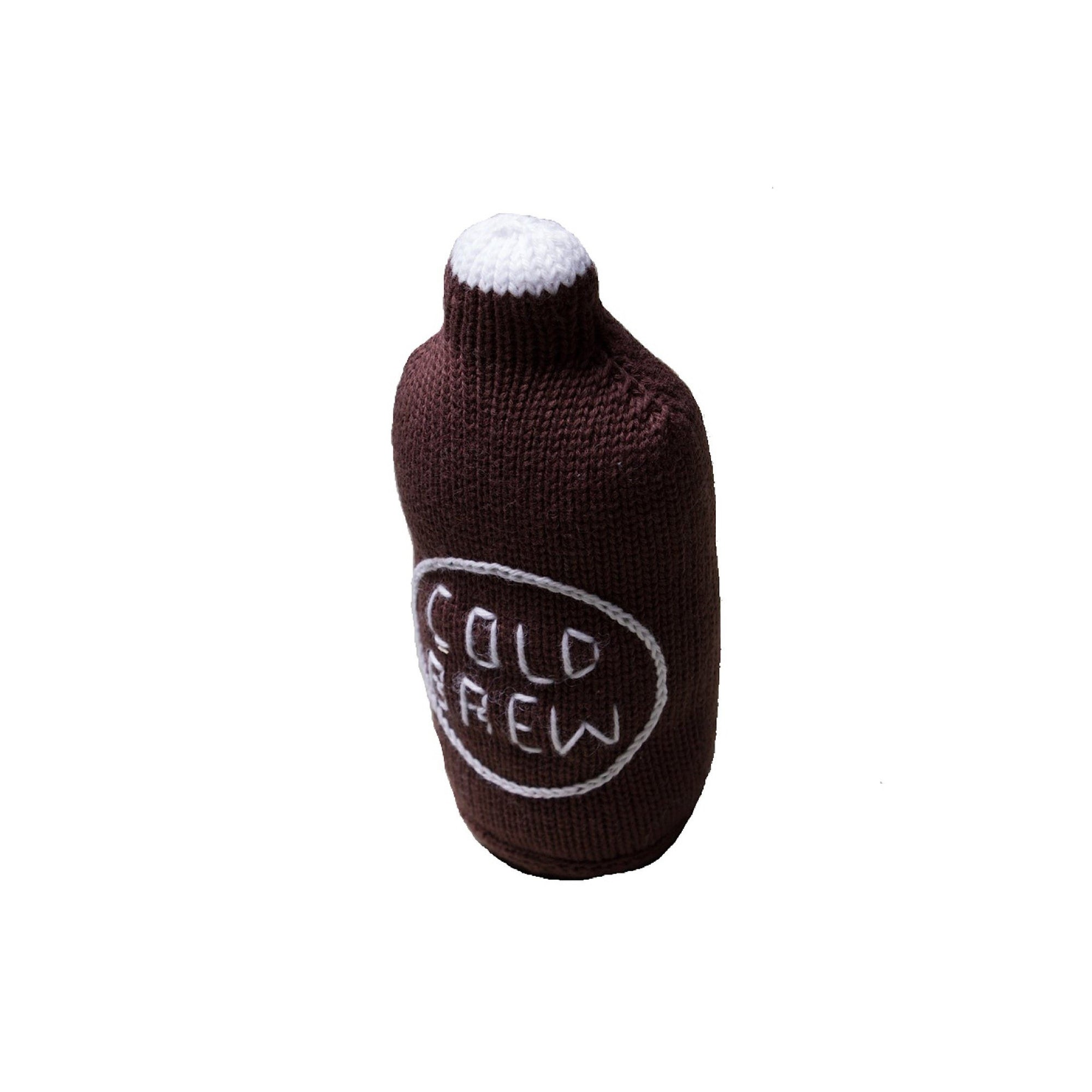 Estellas handmade organic cold brew baby rattle