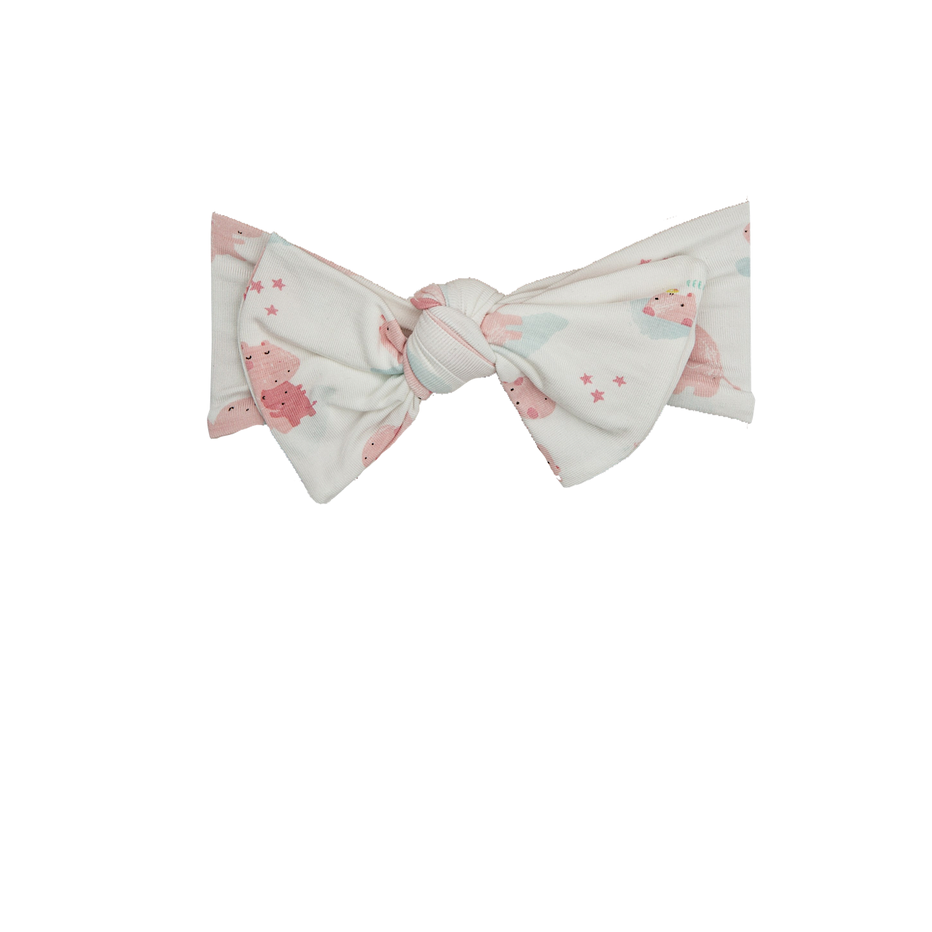 Pink Hippo Bamboo Knotted Headband