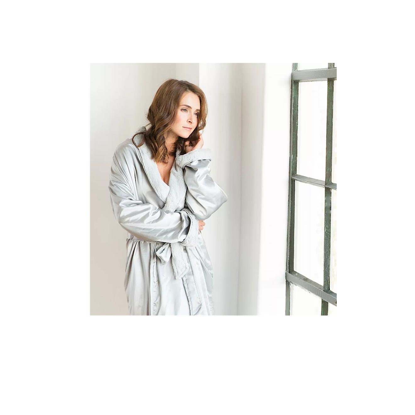 Luxe Silver Satin Robes
