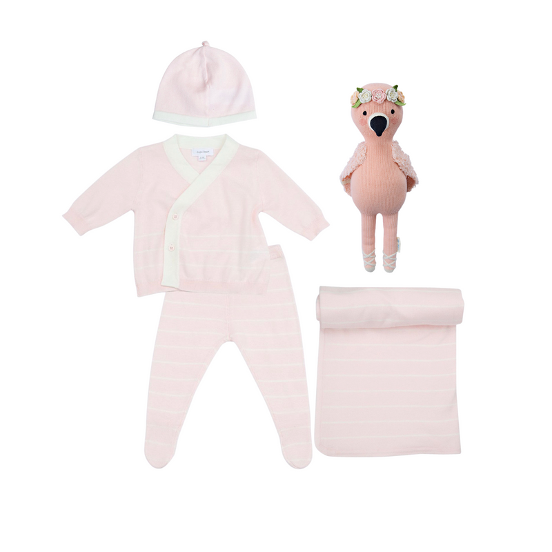 Euro Knit Take-Me Home Set-Pink