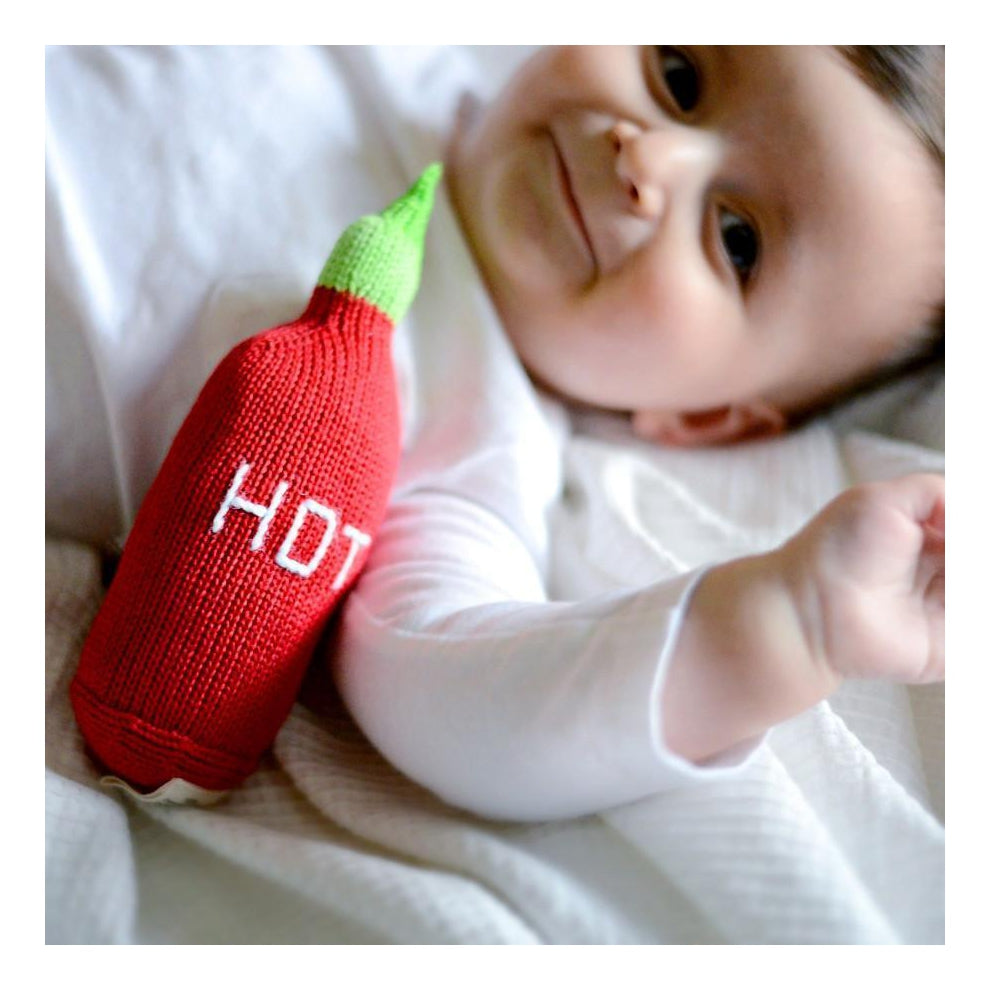 Organic Hot Sauce Knit Rattle