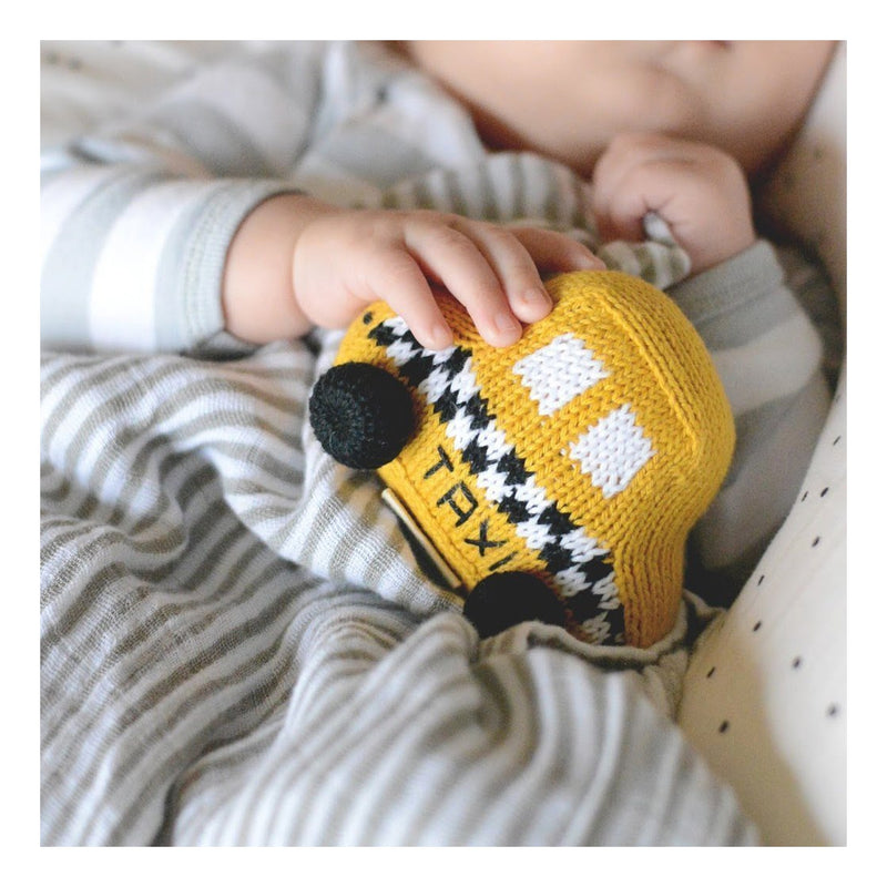 Organic Taxi Knit Rattle