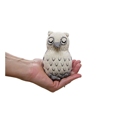Organic Owl Knit Rattle