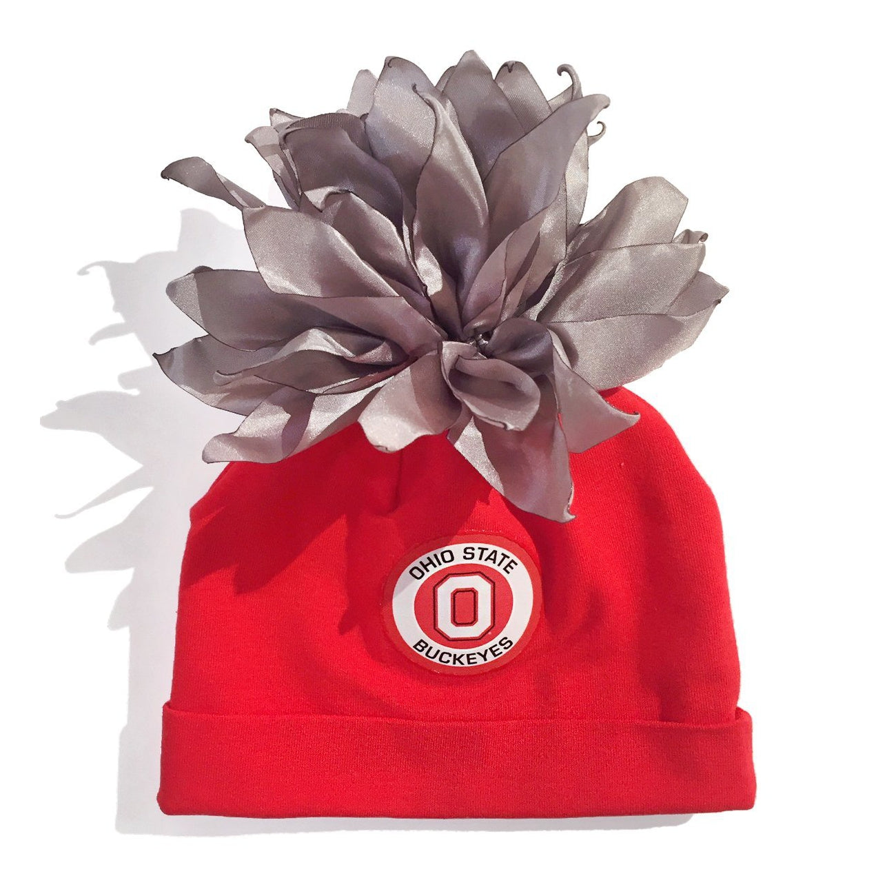 Ohio State University Red Buckeyes Pom-Pom Hat