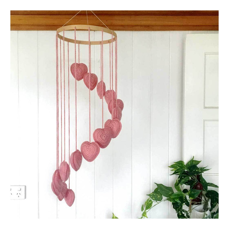 Pink Heart Mobiles