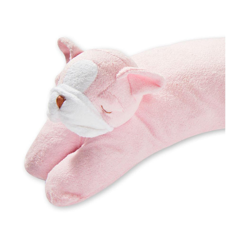 Nestled Bulldog Pillow - Pink
