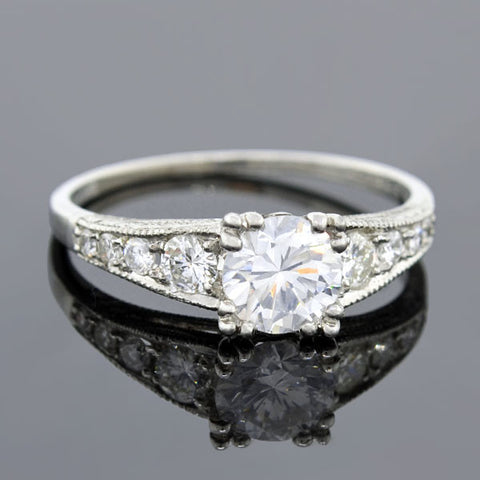 Art Deco Diamond Engagement Ring 0.73ct