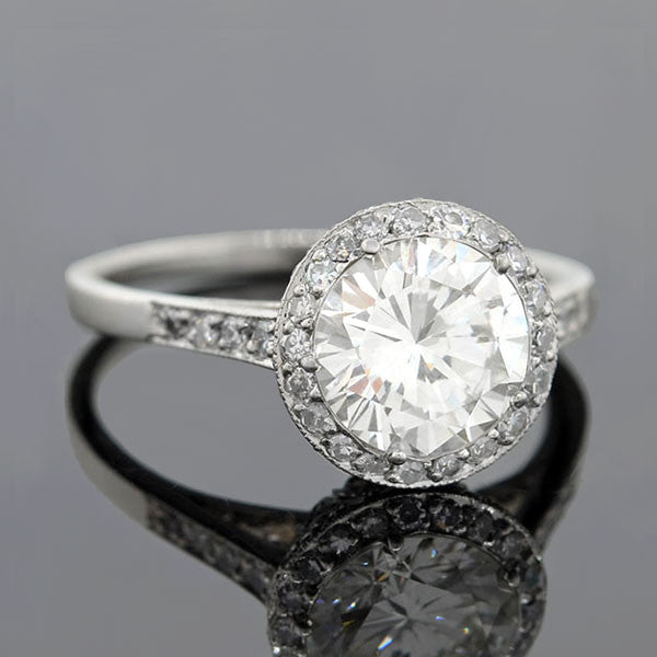 Estate Platinum Diamond Engagement Ring 1.52ct