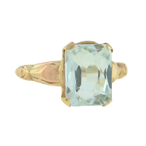 Art Deco 10kt Aquamarine Ring