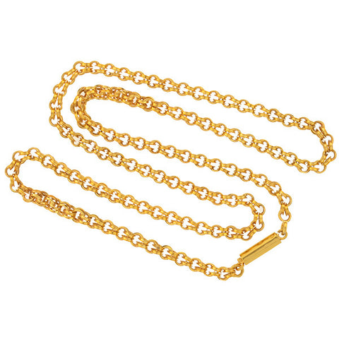Victorian 10kt Gold Double Link Chain 19.5""