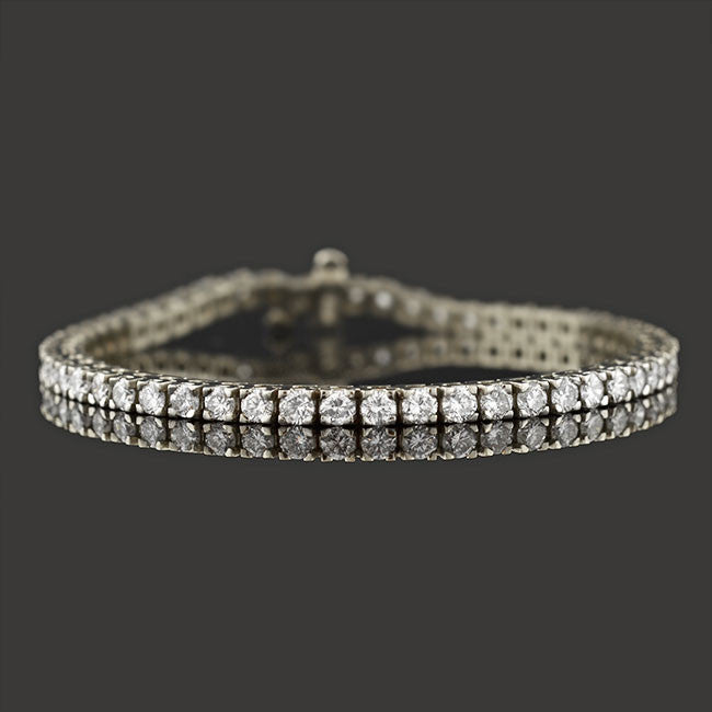 Estate 14K Flexible Diamond Line Tennis Bracelet 3.00ctw