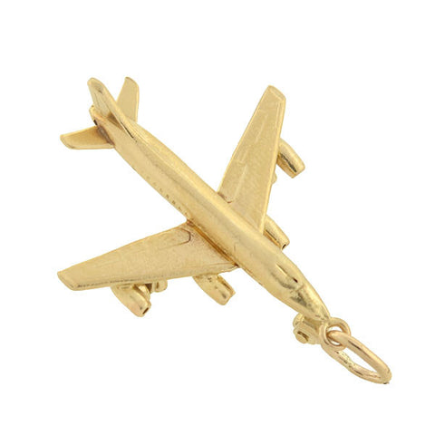 Retro 14kt Gold Airplane Charm/Pendant