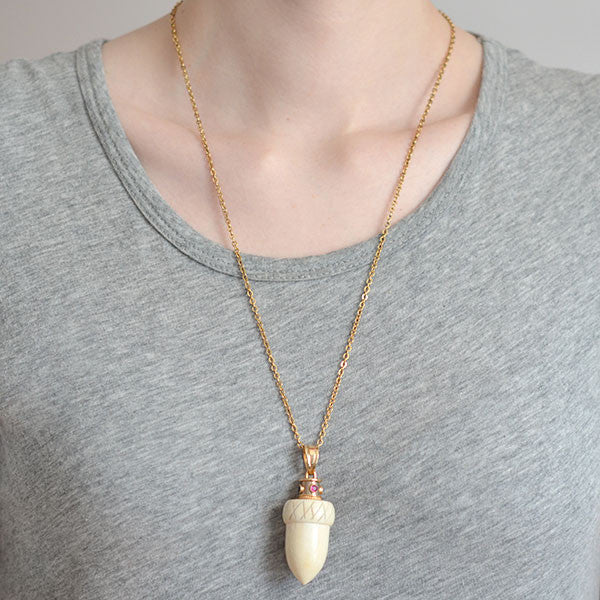 gold unb pendant necklace necklaces elephant ivory hip long color fashion men personality hop anime item