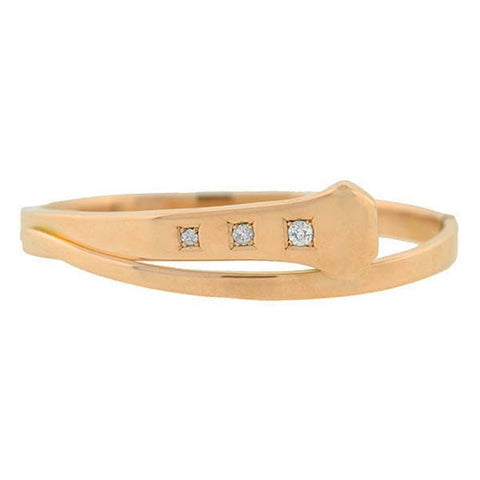 Victorian 14kt Rose Gold & Diamond Nail Bracelet