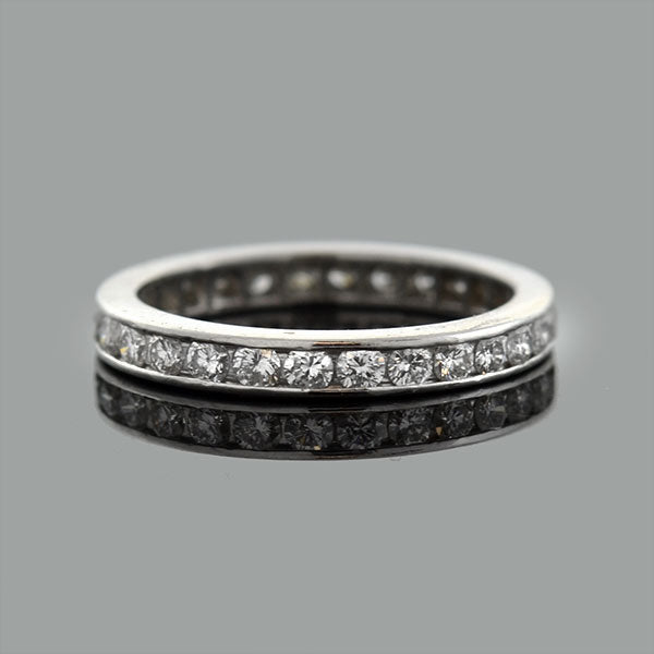 Estate Platinum Diamond Eternity Band .75ctw