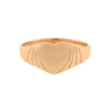 Late Art Deco 14kt Heart Signet Ring
