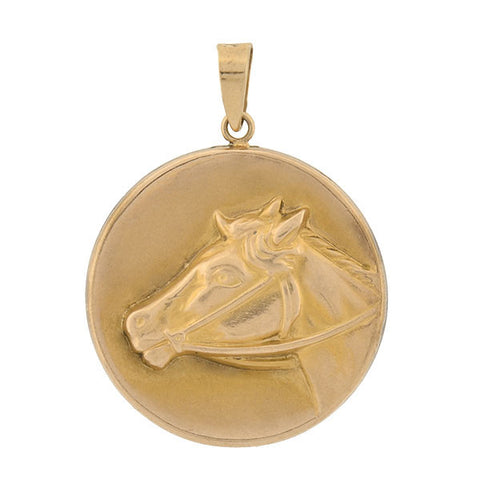 Late Victorian 14kt Equestrian Horse Head Locket