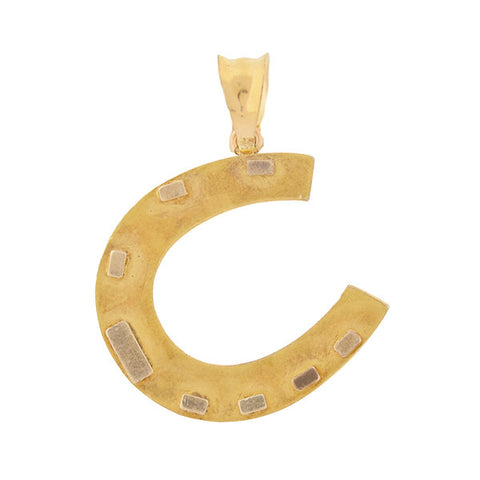 Victorian 14kt Yellow Gold Horseshoe Pendant
