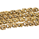Victorian 14kt Yellow Gold Bead & Link Chain 18