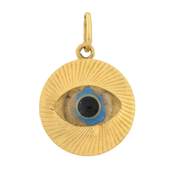Vintage 14kt Yellow Gold Evil Eye Charm/Pendant