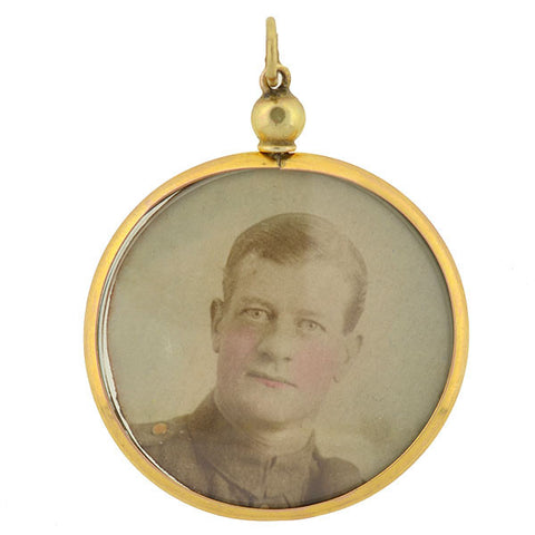 Victorian Large 10kt Reversible Photo Locket/Pendant