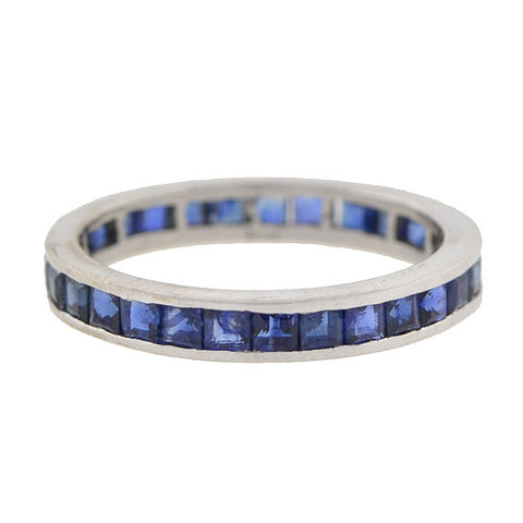 Vintage 14kt Gold Sapphire Eternity Band