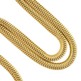 Retro 14kt Gold Snake Chain Necklace 21