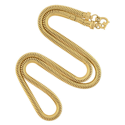Retro 14kt Gold Snake Chain Necklace 21""