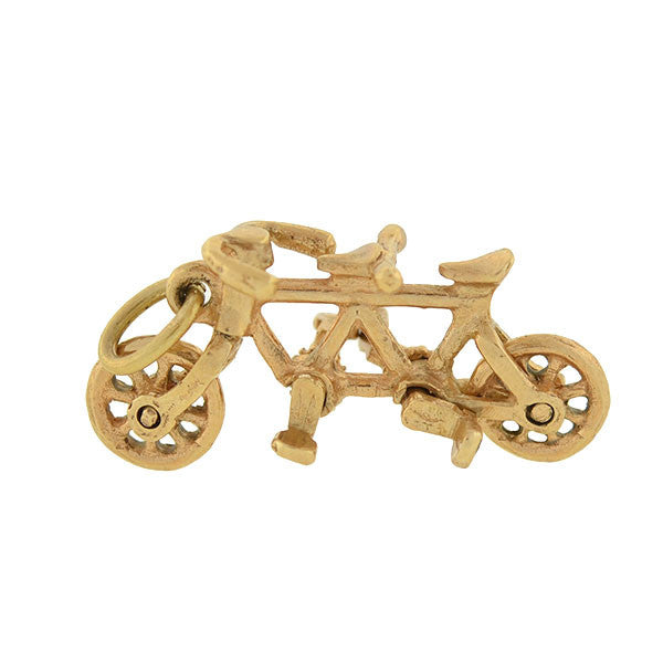 Retro 14kt Gold Tandem Bicycle Movable Charm