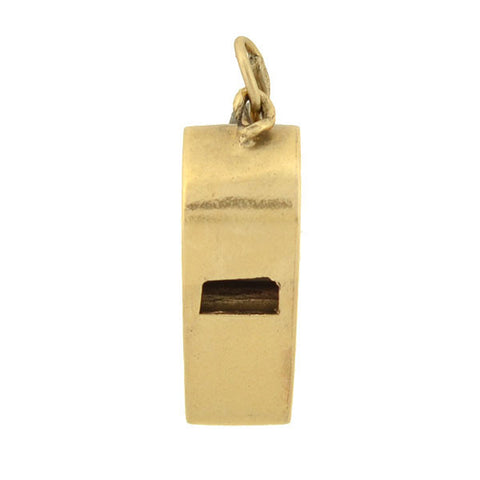 Vintage 14kt Yellow Gold Whistle Charm