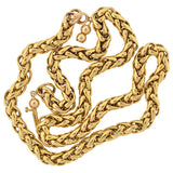 Victorian 14kt Gold Braided Chain 19