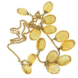 Victorian 14kt Faceted Citrine Festoon Necklace 17.5