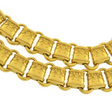 Victorian 15kt Etruscan Link Book Chain Necklace