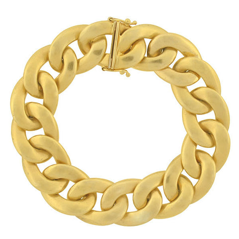Estate 18kt Yellow Gold Cuban Link Bracelet 24.6dwt