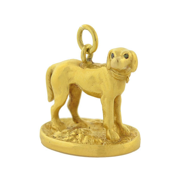 Victorian 18kt Hunting Hound Dog Fob with Family Crest Seal