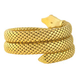 Retro 18kt Flexible Wrap-Around Coiled Snake Bracelet 71.1dwt