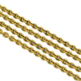 Georgian Long 18kt Textured Link Chain with Clasp 59