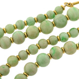 Art Deco Chinese 18kt Jadeite Beaded Necklace 25