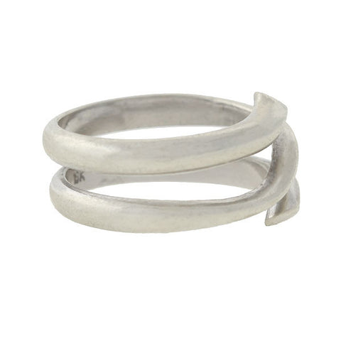 Vintage 18kt White Gold Wrapped Band Ring